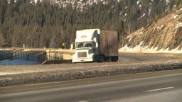 HD2009-1-6-9 highway transport truck Stock Video Footage