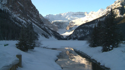 HD2009-1-6-17 Lake Louise and creek icon shot Footage