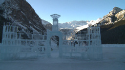 HD2009-1-6-19 Lake Louise ice castle Stock Video Footage