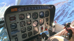 HD2009-1-7-3 heli gauges cockpit Stock Video Footage