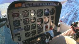 HD2009-1-7-3 heli gauges cockpit Stock Video Footage