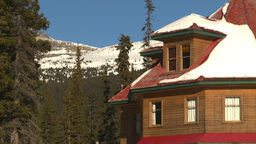 HD2009-1-7-27 mtn lodge Stock Video Footage