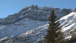 HD2009-1-7-29 snow covered mtn Stock Video Footage
