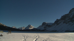 HD2009-1-8-1 Bow Glacier lake pan Stock Video Footage