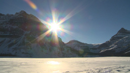 HD2009-1-8-1 Bow Glacier lake pan Stock Video Footage