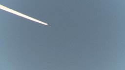 HD2009-1-8-27 jet contrail Stock Video Footage