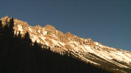 HD2009-1-8-31 snow mtn near sunset z Stock Video Footage