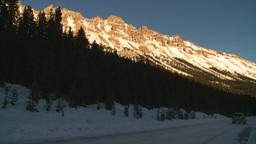HD2009-1-8-33 snow mtn near sunset highway Stock Video Footage
