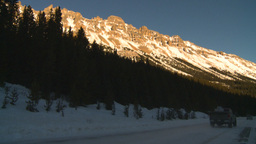 HD2009-1-8-33 snow mtn near sunset highway Stock Video Footage