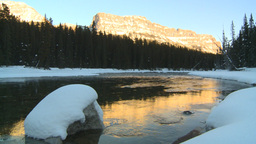 HD2009-1-8-35 Castle mtn and river Stock Video Footage