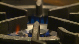 HD2009-1-9-1 stove gas flame Stock Video Footage