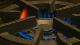 HD2009-1-9-3 stove gas flame Stock Video Footage