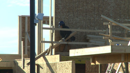HD2009-1-9-17 houae const passing up lumber Stock Video Footage