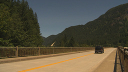 HD2009-7-1-5 transport truck over bridge Stock Video Footage