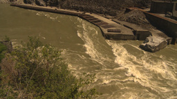 HD2009-7-1-9 hells gate canyon fish ladder Stock Video Footage