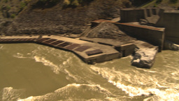 HD2009-7-1-11b hells gate canyon fish rapid and bridge pan Stock Video Footage