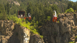 HD2009-7-1-17 hells gate canyon cable car Stock Video Footage