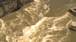 HD2009-7-1-19 hells gate canyon tilt up Stock Video Footage