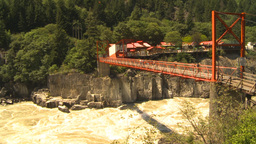 HD2009-7-1-27 hells gate canyon bridge Stock Video Footage