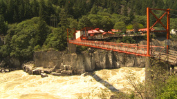 HD2009-7-1-27 hells gate canyon bridge Stock Video Footage