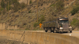 HD2009-7-1-45 transport truck on curve Stock Video Footage