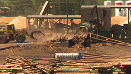 HD2009-7-2-17 log mill montage Stock Video Footage