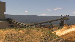 HD2009-7-2-19 log mill conveyor montage Stock Video Footage