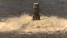 HD2009-7-2-21 water aeration pumps z Stock Video Footage