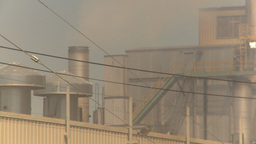 HD2009-7-2-23 pollution exhaust pulp mill Stock Video Footage