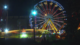 HD2009-7-3-7 night midway rides color TL Footage