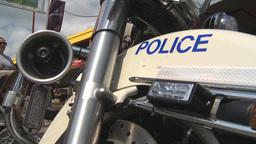 HD2009-7-3-13 Stampede RCMP motorbike 3shot Stock Video Footage