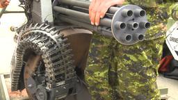 HD2009-7-3-15 GE 20mm gatling gun Stock Video Footage