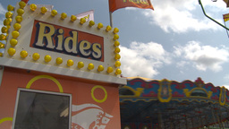 HD2009-7-3-17b midway rides kids 3shot Footage