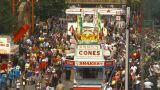 HD2009-7-3-19 Midway Aerial Lots Of People stock footage