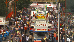 HD2009-7-3-19 midway aerial lots of people Stock Video Footage