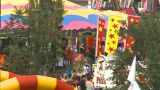 HD2009-7-3-21 Midway Aerial Lots Of People Z stock footage