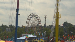 HD2009-7-3-23 midway aerial skyline ride 4 shot Footage