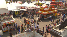 HD2009-7-3-23 midway aerial skyline ride 4 shot Stock Video Footage