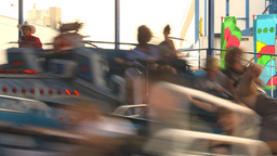 HD2009-7-3-32b midway snoexpress ride Stock Video Footage