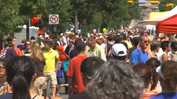 HD2009-7-8-5 lots of people street festival Stock Video Footage