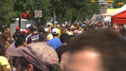 HD2009-7-8-5 lots of people street festival Stock Video Footage