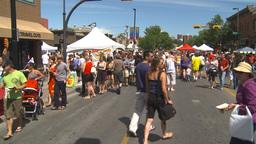 HD2009-7-8-6 lots of people street festival Stock Video Footage