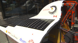 HD2009-7-8-8 solar car montage Stock Video Footage