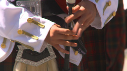 HD2009-7-9-6 military highland piper Footage