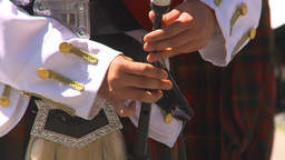HD2009-7-9-6 military highland piper Stock Video Footage