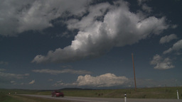 HD2009-7-10-3RC light highway traffic and clouds Stock Video Footage