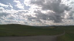 HD2009-7-10-5RC clouds and foothills ranch TL Stock Video Footage