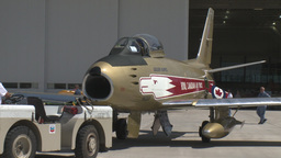 HD2009-7-10-37RC F86 sabre tug Stock Video Footage