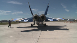 HD2009-7-10-41RC F18 tug Stock Video Footage