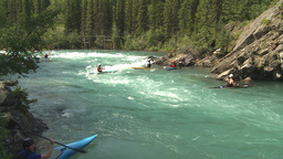 HD2009-7-13-1 kayak river Stock Video Footage